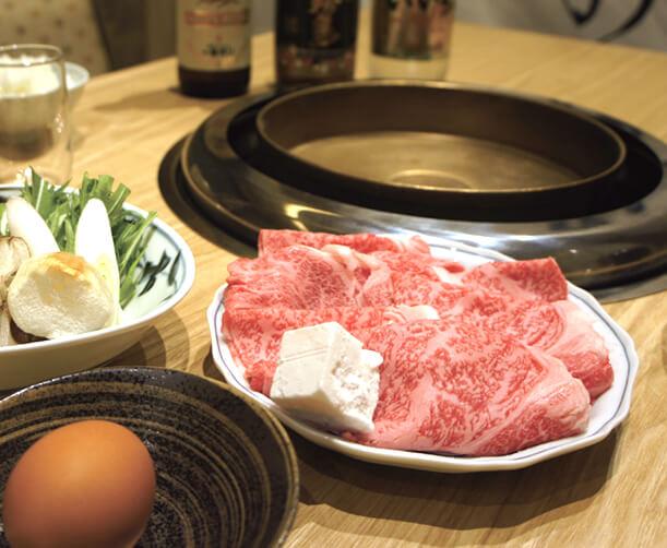 農家レストランだいきち 大津堅田店のすき焼きコース