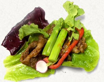 近江牛うす切りカルビの野菜包み